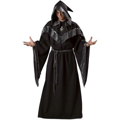 Drop-Shipping-2013-New-Mens-Monk-Costume-Fancy-Dress-Adult-Jedi-Robe-Wizard-Halloween-Hooded-Priest